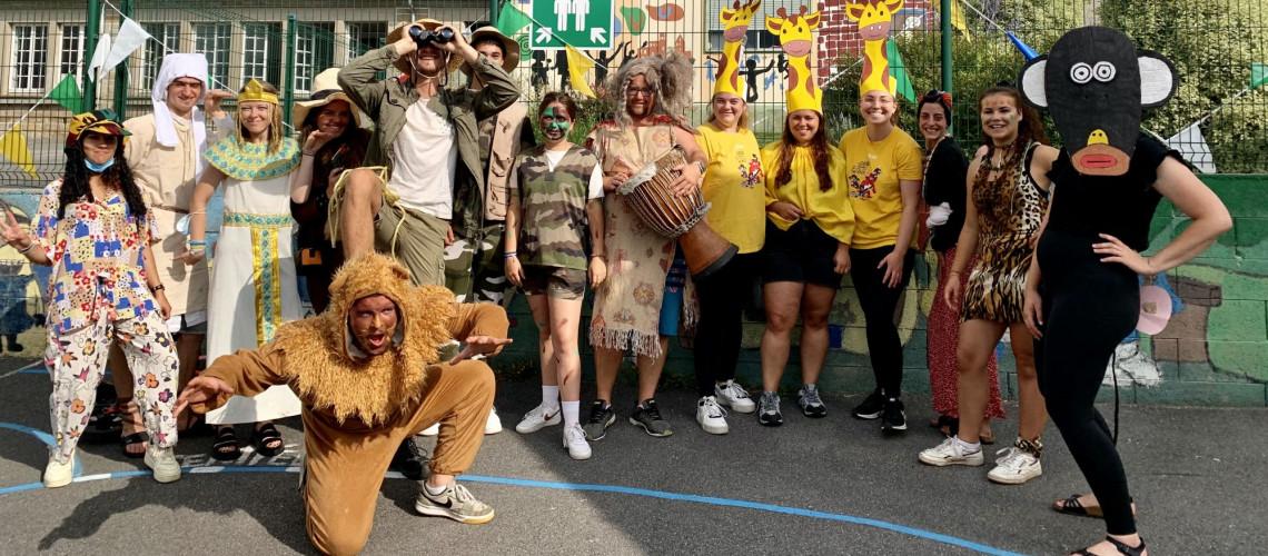 Photo de l'équipe de juillet 2021 - Journée sur le thème de l'Afrique-